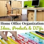 two images, one of modern home office and other of rainbow colored file folders with text overlay