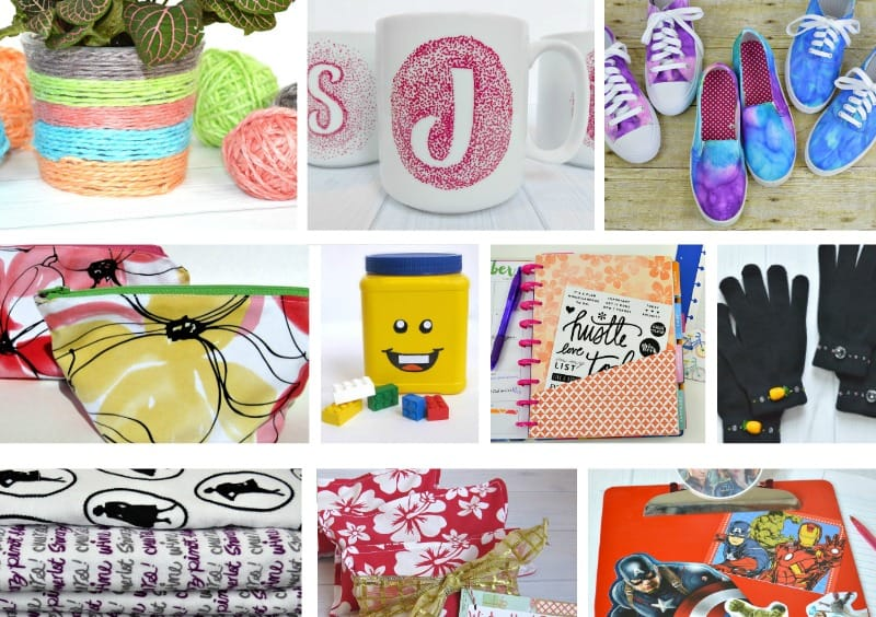 collage of 10 diy gift ideas