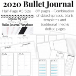 2020 Bullet Journal Half-Letter A5 Size
