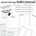 2020 Full-Page A4 Bullet Journal Template