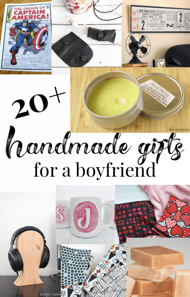 collage of handmade gifts