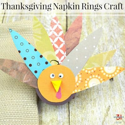 Turkey Craft Napkin Rings