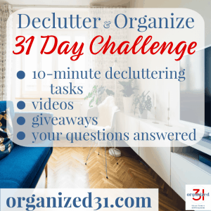 31 Day Declutter Challenge in 10-Minutes a Day