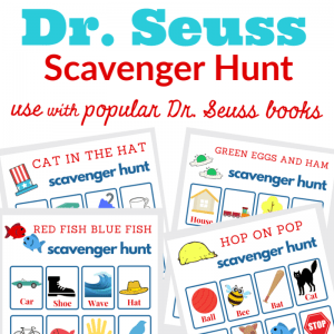 Dr. Seuss Books Scavenger Hunt