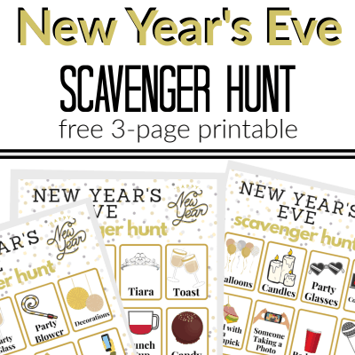 New Year's Eve Scavenger Hunt