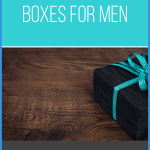 black box with blue ribbon on white table with blue and grey box overlays