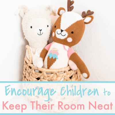 2 stuffed animals in basket in corner of room