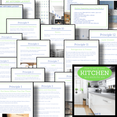 collage of pages of ebook including kitchen images