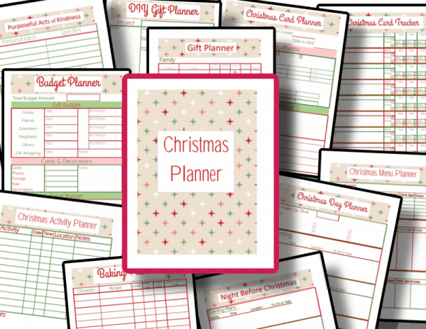 red and green planner images
