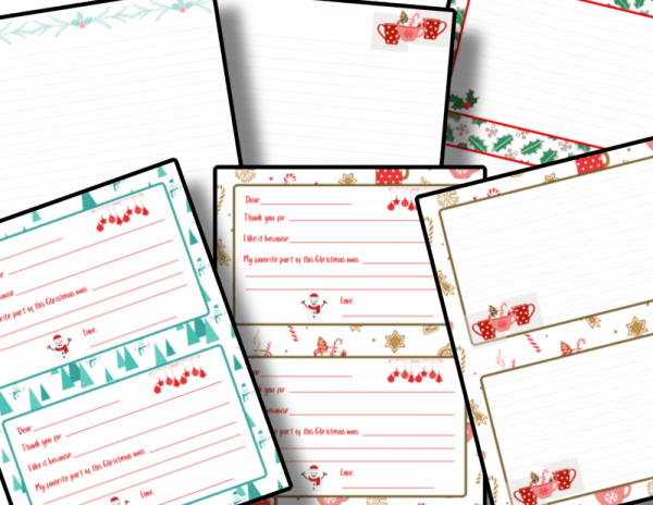 Christmas themed note cards
