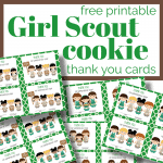 5 images of thank you cards with girl scouts
