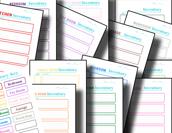colorful inventory sheets
