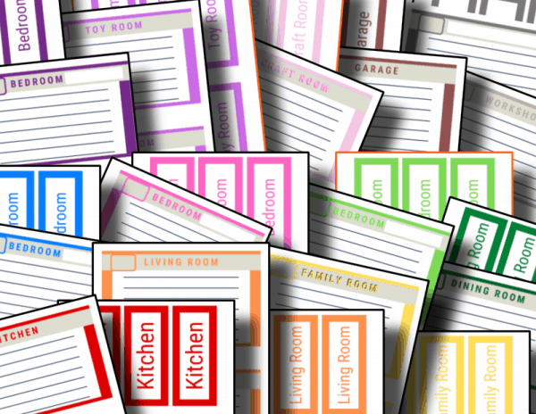 colorful moving box labels