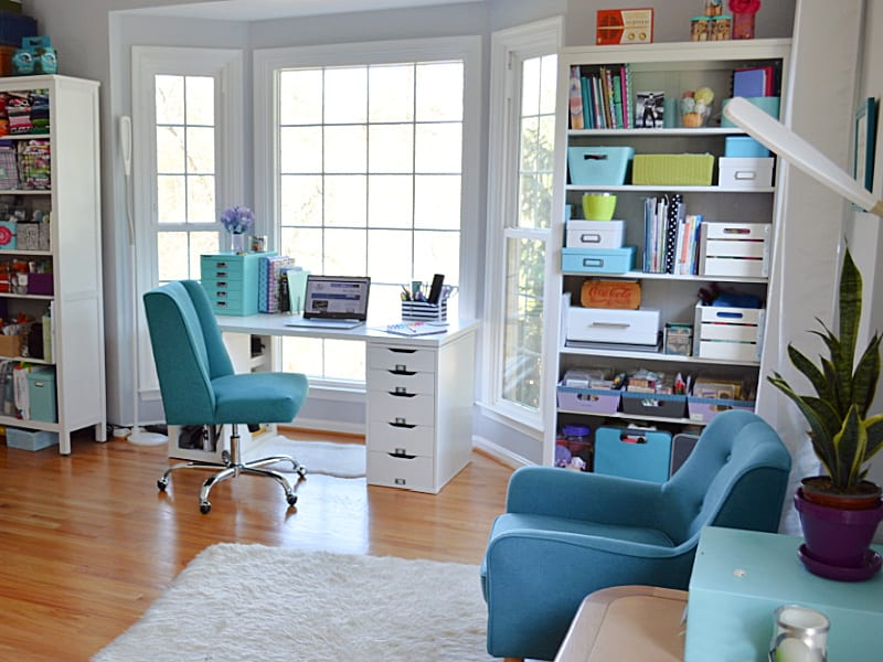 bright, modern home office