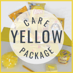 care package of yellow items