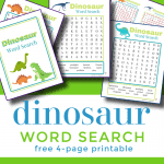 5 colorful worksheets on green background