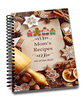 spiral bound cookbook with family recipes